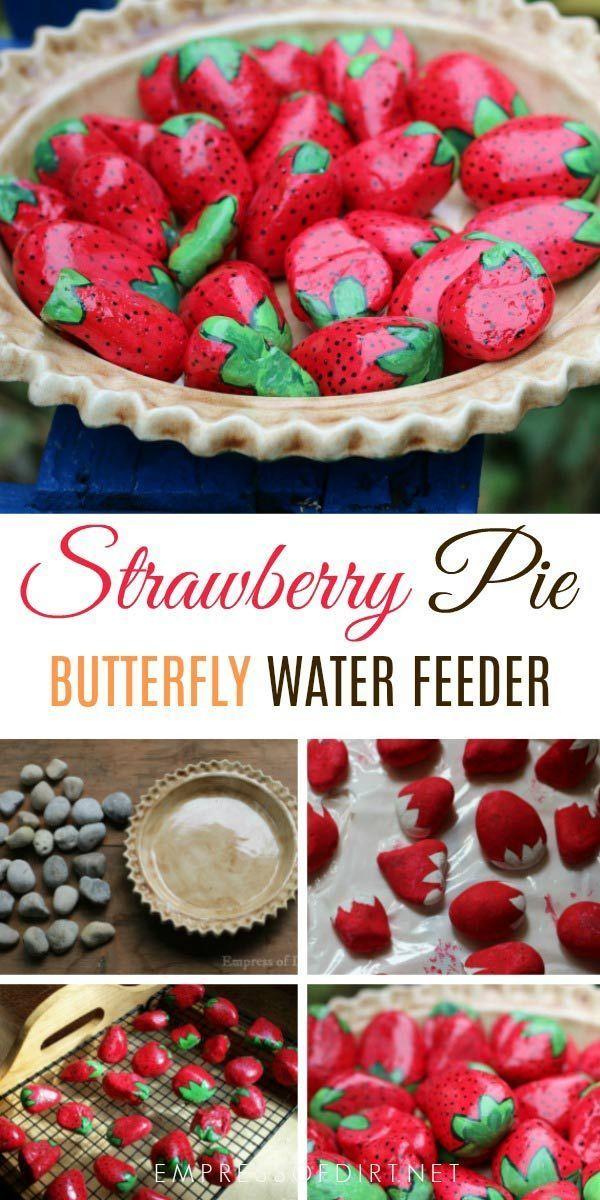 Machen Sie einen Strawberry Pie Water Feeder für Vögel, Bienen und Schmetterlinge, #Bienen #einen #feeder #für #Machen #Pie #Schmetterlinge #Sie #Strawberry #und #Vogel #WATER