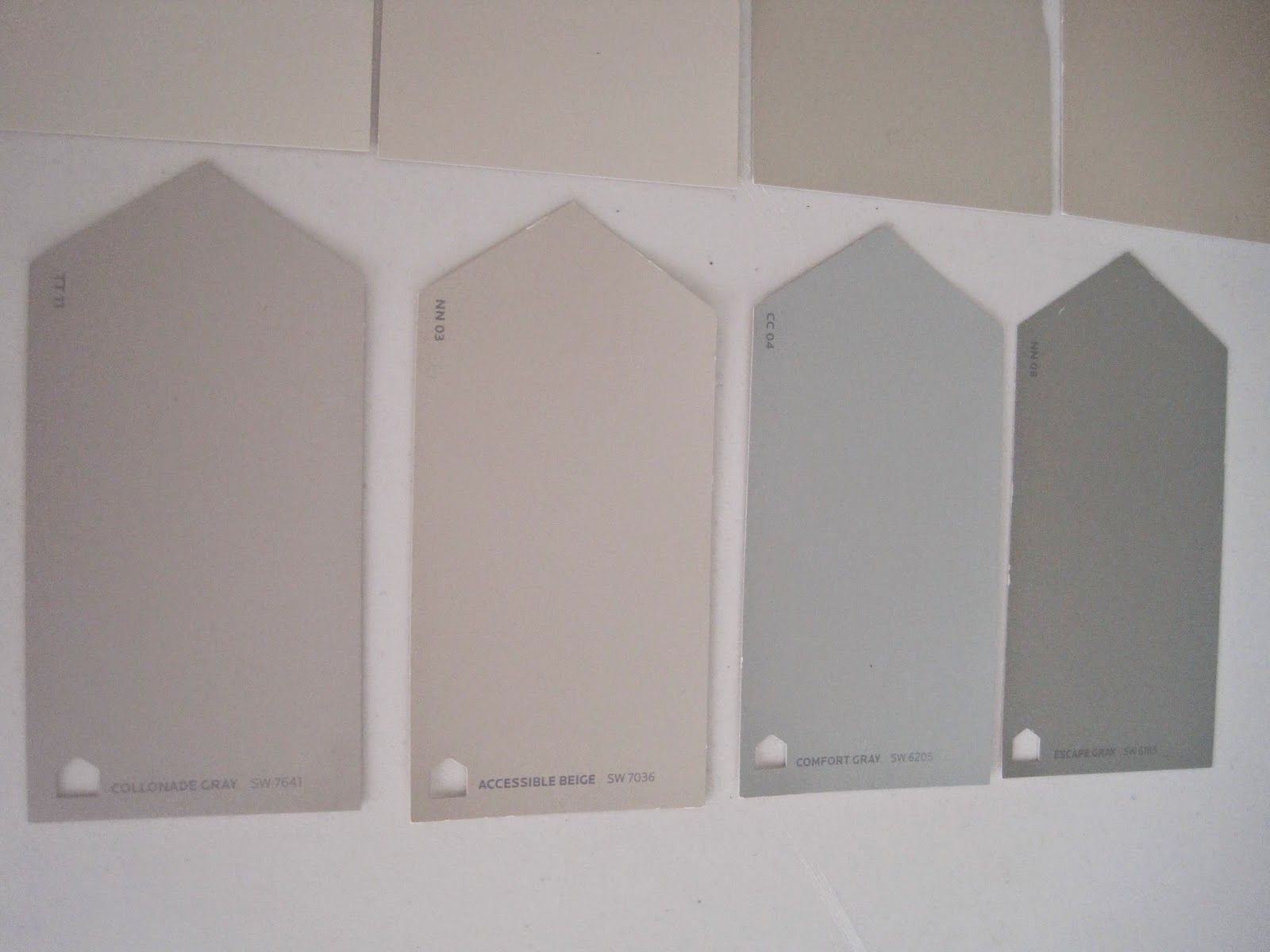 Looking for coastal colors sw collonade gray accessible for Grey beige paint color