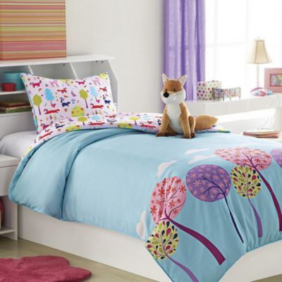 Foxy Lady Kids\' Comforter Set with Plush Toy Cushion - Sears | Sears ...