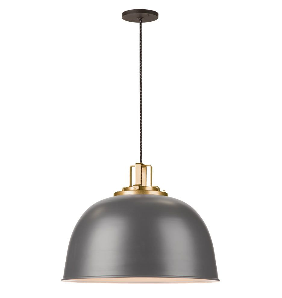 "Decorative Unique Pendant Lights Outdoor Kitchen Cheap: Butte 22"" Dome Aged Brass Pendant In 2019"