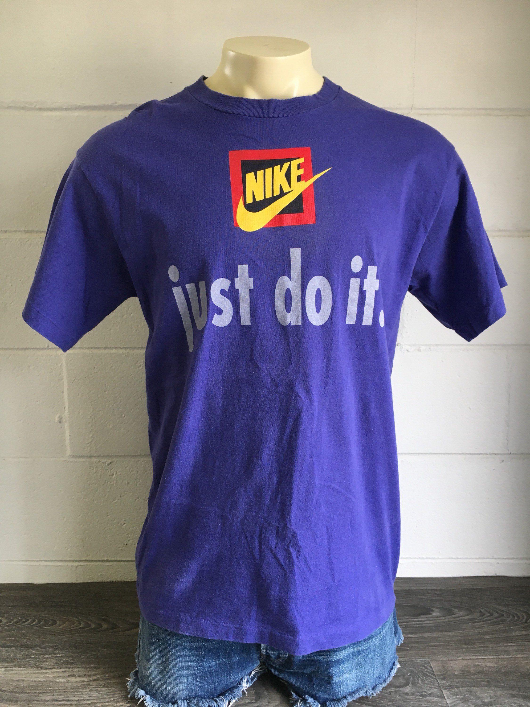 Nike Just Do It Tshirt 90 S Vintage Grey Tag Shirt Rare Etsy In 2020 Tag Shirts T Shirt Shirts