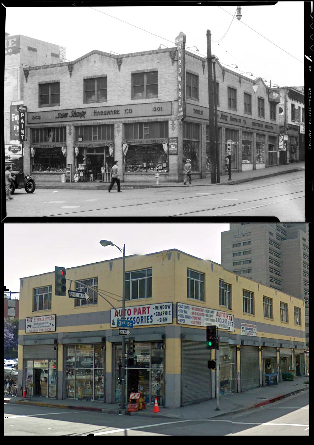 3rd And Los Angeles St 1925 Present Day Los Angeles History California History East Los Angeles