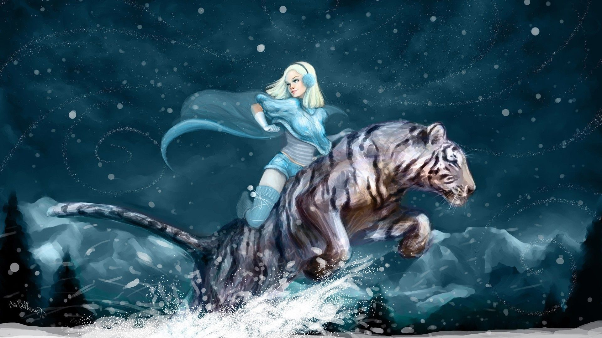 Fantasy art tiger women snow wallpaper fotografias imagenes y fantasy art tiger women snow wallpaper thecheapjerseys Gallery