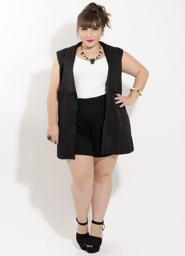 71d04beae ju romano short colete Vestido Com Colete, Colete Jeans, Roupas Femininas Plus  Size,