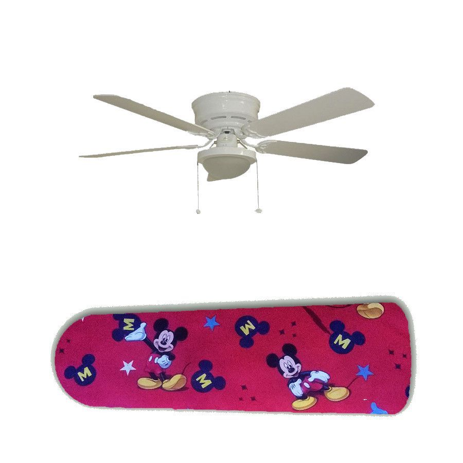 Classic mickey mouse on red 52 ceiling fan and lamp classic classic mickey mouse on red 52 ceiling fan and lamp aloadofball Images