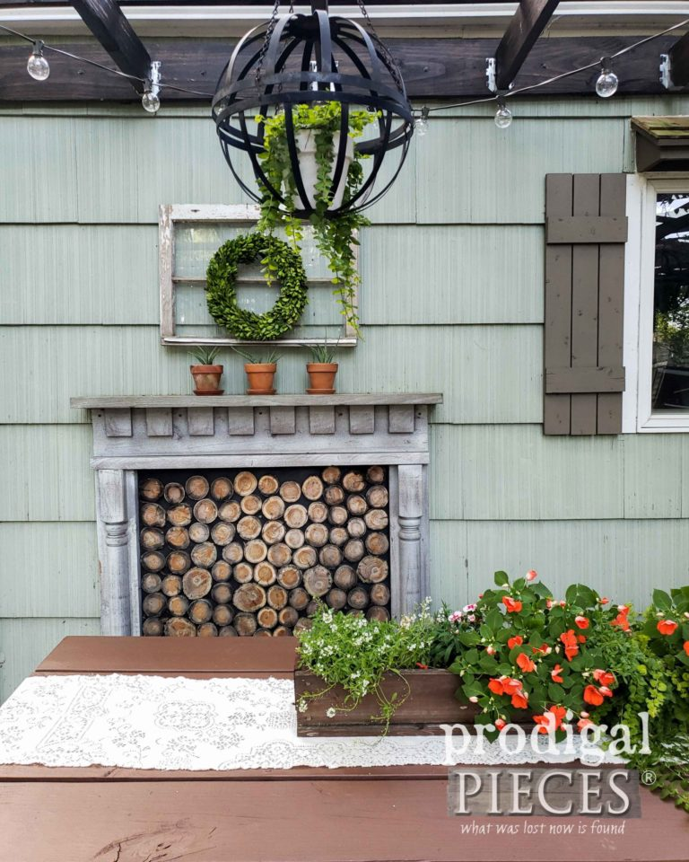 Update Outdoor Furniture the Easy Way Faux fireplace diy