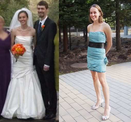 44 Wedding Dress Reconstruc Into Cocktail