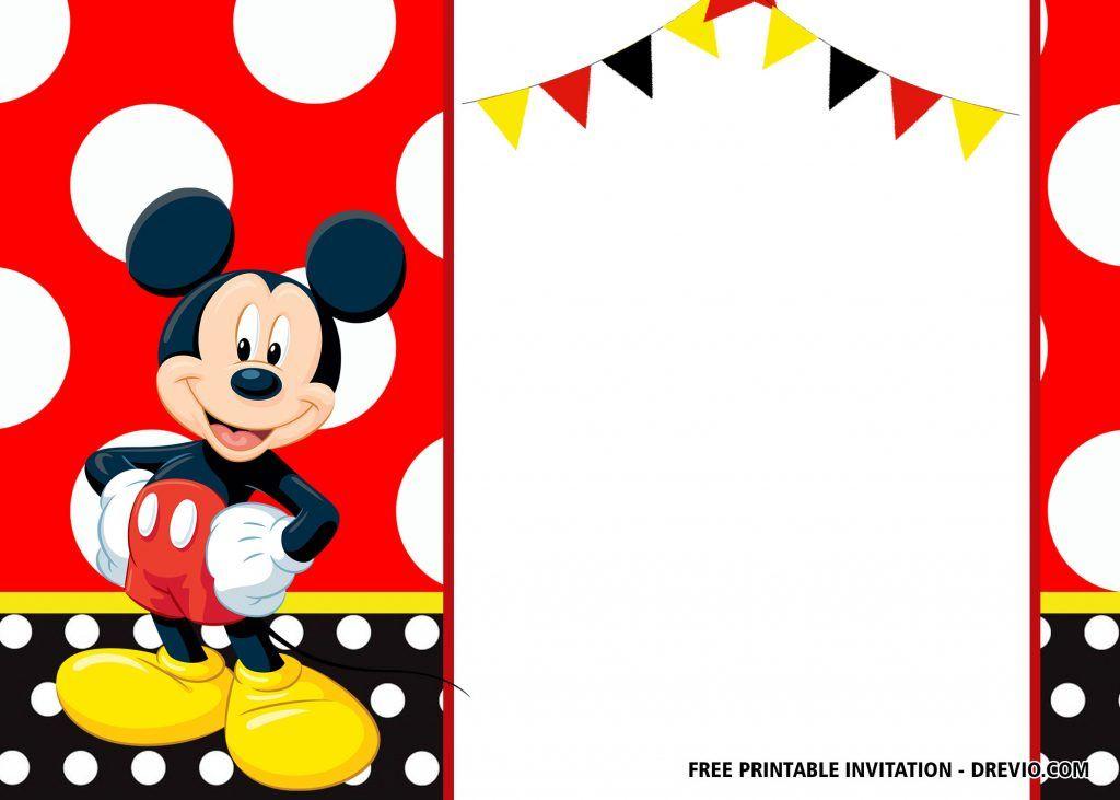 Free Mickey Mouse Birthday Invitation Templates Latest Mickey Mouse Birthday Mickey Invitations Mickey Mouse Invitation
