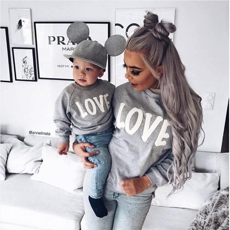 33d4d5caf08e Couple T-Shirt Love Mother Son Daughter Matching Shirts Family ...