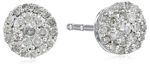 10k White Gold Round Diamond Cluster Earrings (1/4 cttw, I-J Color, I2-I3 Clarity) - See more at: http://jewelry.florentt.com/jewelry/earrings/10k-white-gold-round-diamond-cluster-earrings-14-cttw-ij-color-i2i3-clarity-com/#sthash.jQubUD6I.dpuf