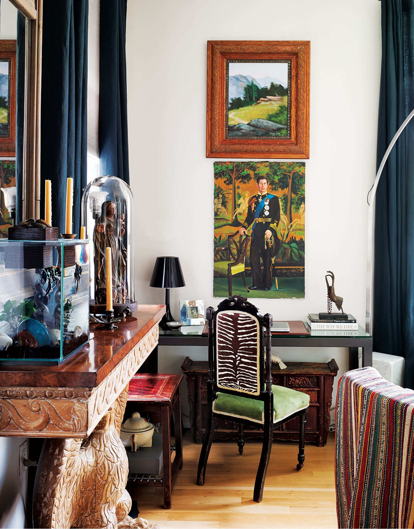 how to give a modern apartment some old world charm green velvet