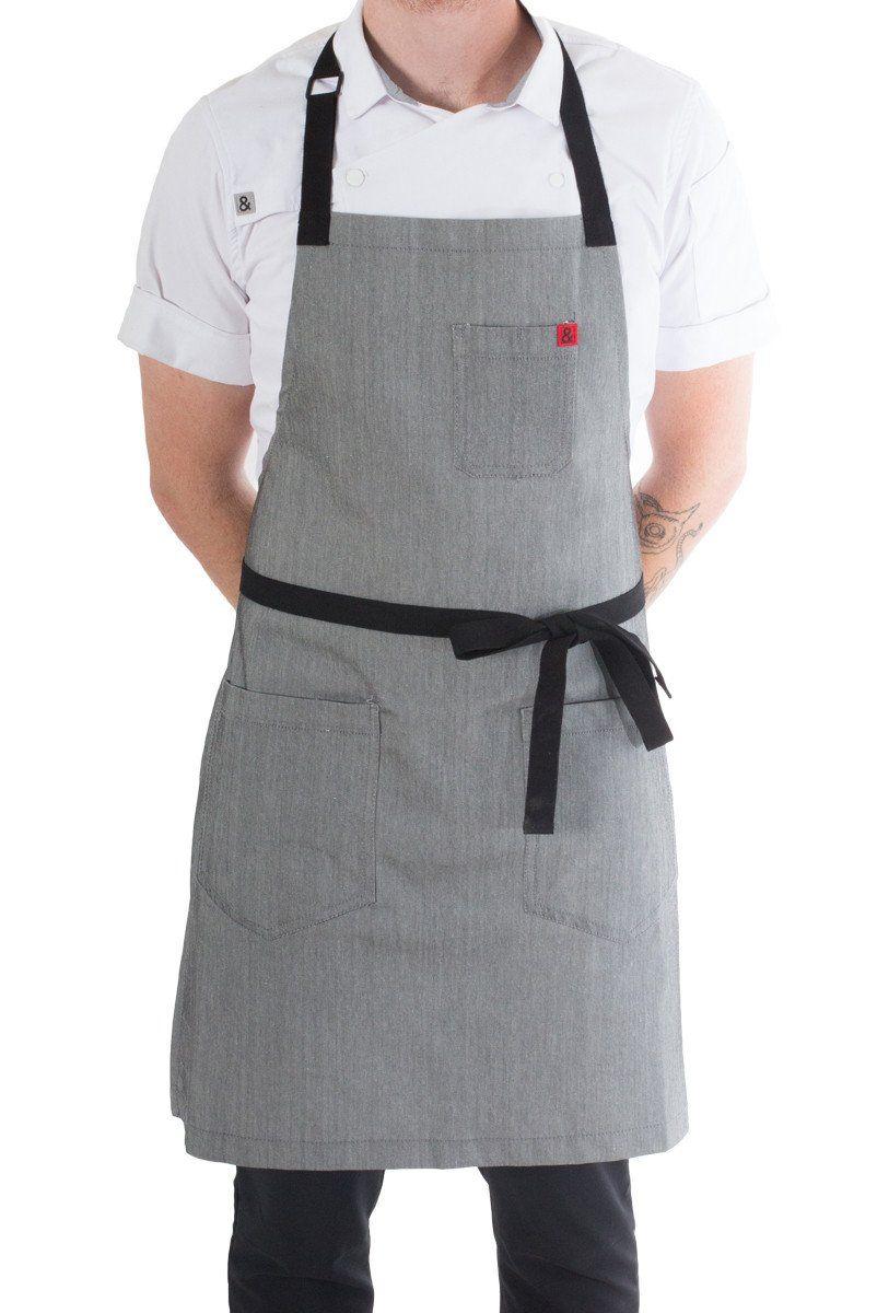 3 new premium professional bib apron kitchen supplies chefs barista cook craft