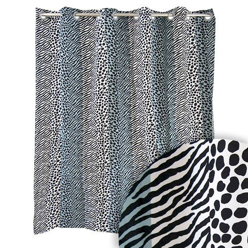 Hookless Animal Print Shower Curtain W Built In Liner