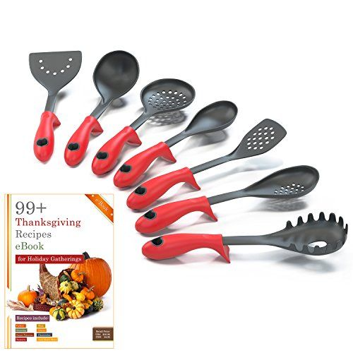6 Piece Kitchen Cooking Utensils Set With Built In Stands And Kitchen Cooking Utensils Cooking Utensils Kitchen Utensil Set