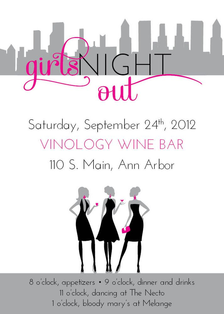 Small Moments Girls Night Out Invitation Girls Night Girls Night Party Event Invitation Templates