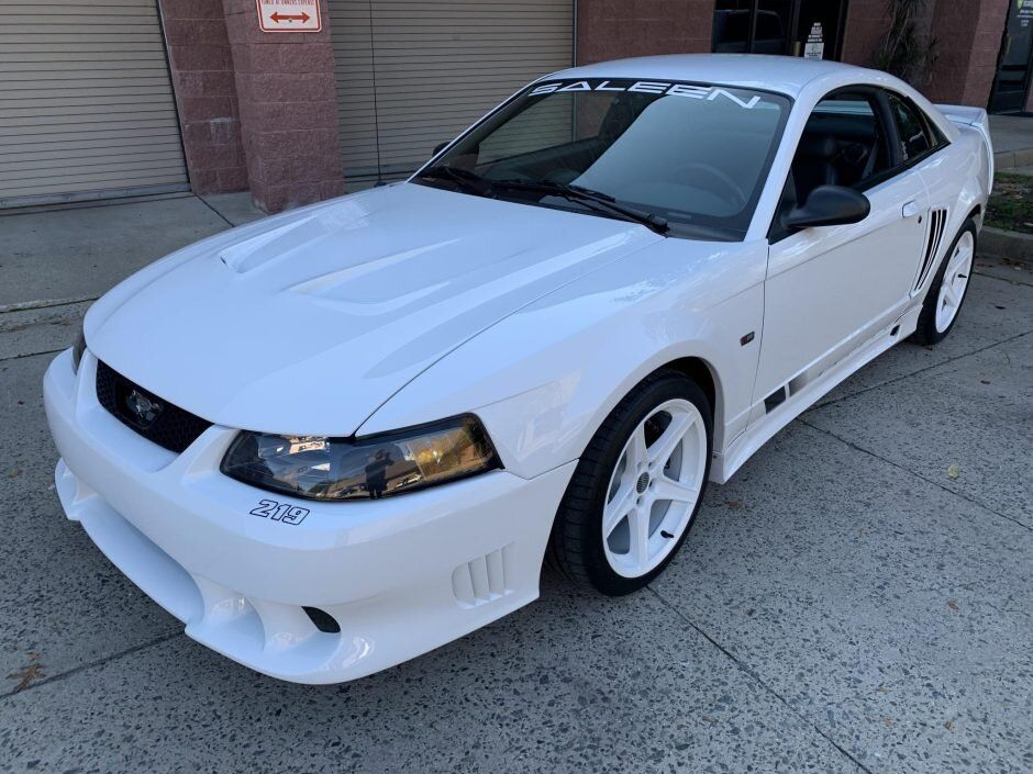 For Sale 2002 Ford Mustang Saleen S 281sc Coupe 219 Oxford White Supercharged 4 6l V8 5 Speed 4k Miles Stangbangers 2002 Ford Mustang Saleen Mustang Ford Mustang Saleen