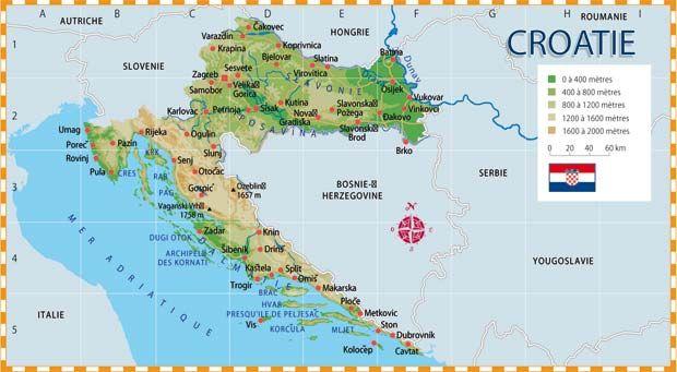 Carte Croatie Dubrovnik.Carte De La Croatie Croatia Dubrovnik Croatia Dubrovnik