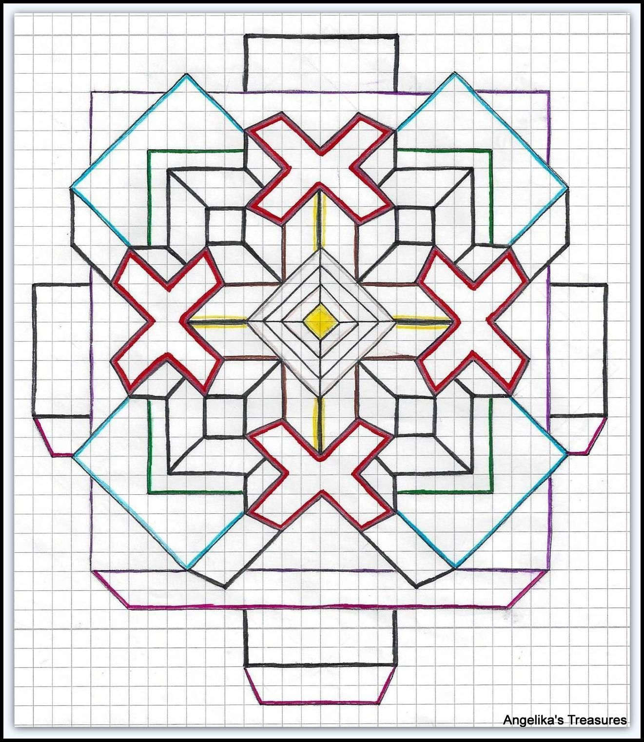 Quilt Patterns On Graph Paper : Graph Paper art made by myself Graph paper Art-Drawings / RuitjesPapier Tekeningen , Eigen ...