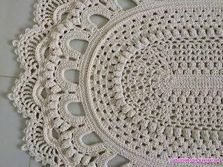 Crochet Oval Russian Rug Step By Step Part 2 Crochet Rug Patterns Free Crochet Rug Patterns Crochet Carpet