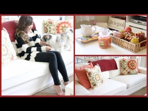 Redecorate With Me For Fall: My Living Room! By ThatsHeart So Cute She  Changes It HAHAHA