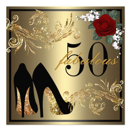 50th And Fab: Dancing Shoes - Fabulous 50th Birthday Invitation