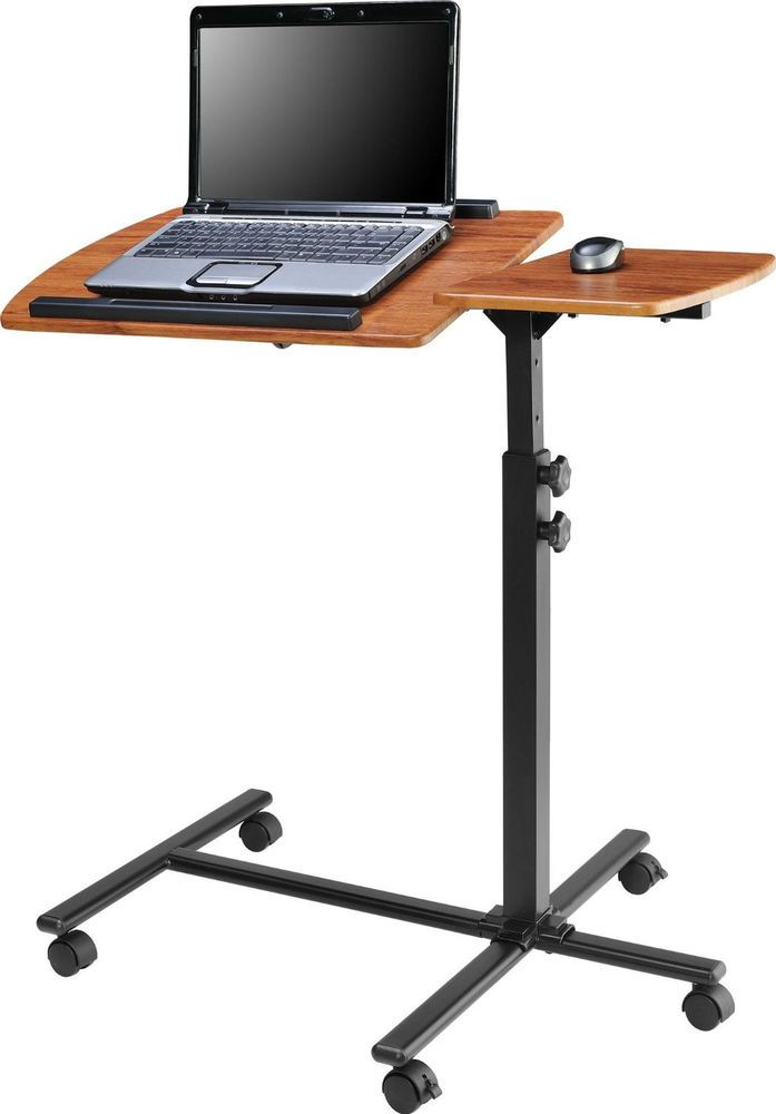 Laptop Adjustable Cart Mobile Pc Desk Small Portable Computer Table Cherry Black Doesnotapply Computer Stand For Desk Black Computer Desk Desk