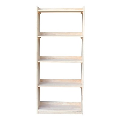 Abby 62 Bookcase Unfinished International Concepts Wood