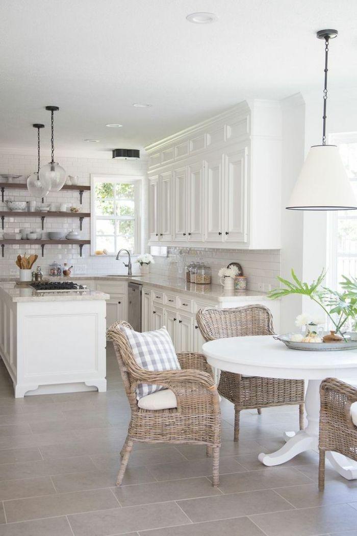 1001 ideas sobre decoraci n de cocinas blancas cocinas for Cocinas abiertas con isla