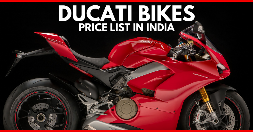 2020 Price List Of Latest Ducati Bikes Available In India In 2020