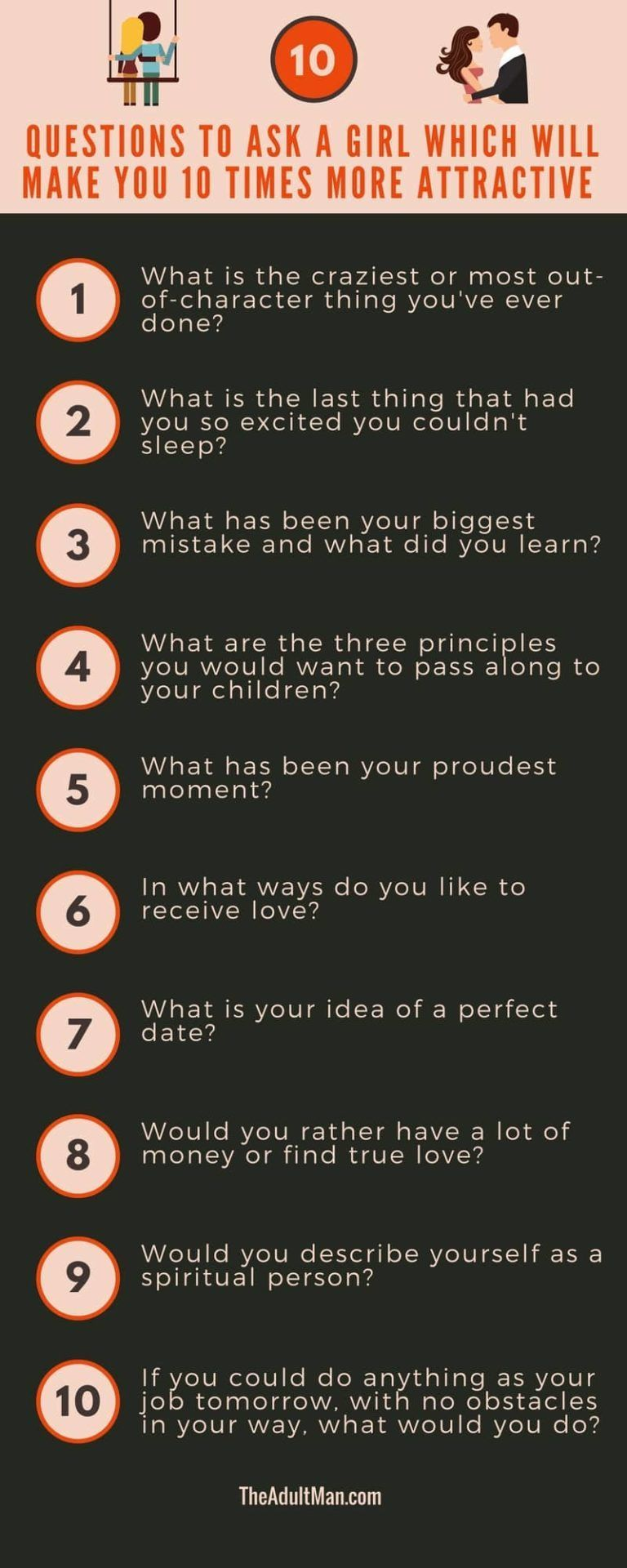 Infographic 10 Questions to Ask a Girl Which Will Make