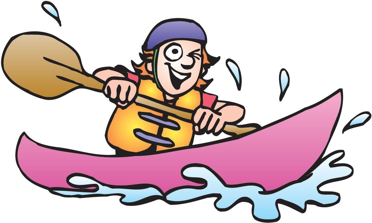 Kayak Clipart Images In 2021 Cartoon Clip Art Clip Art Boat Cartoon