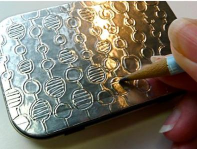 Creatividad Con Papel De Aluminio Diarioartesanal Manualidades Arte Con Papel De Aluminio Cajas Decoradas