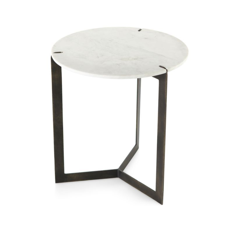 Kace White Marble End Table Reviews Crate And Barrel Marble End Tables Marble Side Table Living Room Marble Topped Bedside Table