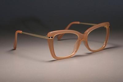 CCSPACE 45548 Ladies Square Glasses Frames For Women Metal Legs Designer Optical EyeGlasses Fashion Eyewear Computer Glasses