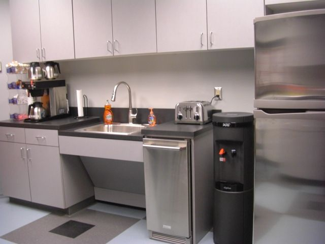 Small Coffee Area Commercial Office Break Room Designs