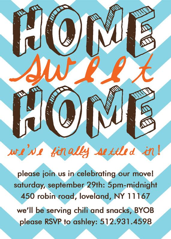 Home Sweet Home, Housewarming Party Invitation PRINT-YOUR-OWN - housewarming invitation template