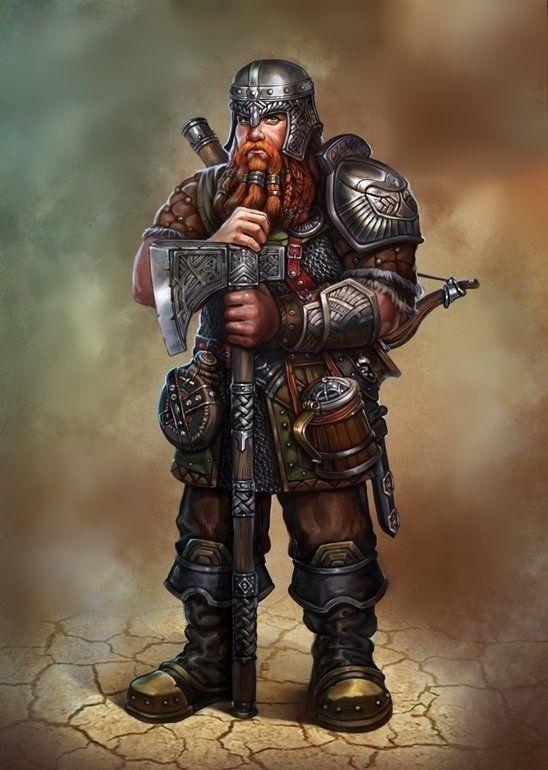 Pedrok: Anão, guerreiro.