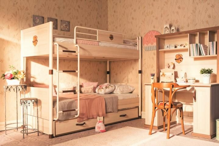 Amor paardenkamer kinder slaapkamer meisjesbed stapelbed hoogslaper ...