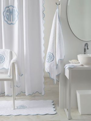 Exquisite Scalloped Edging And Linen Piping Bring A Touch Of
