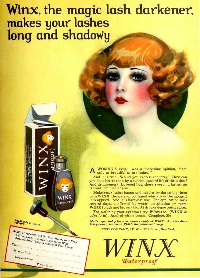 Waterproof Mascara By Winx 1925 The Sweet Scent Of Amor - 1920s-makeup-ads
