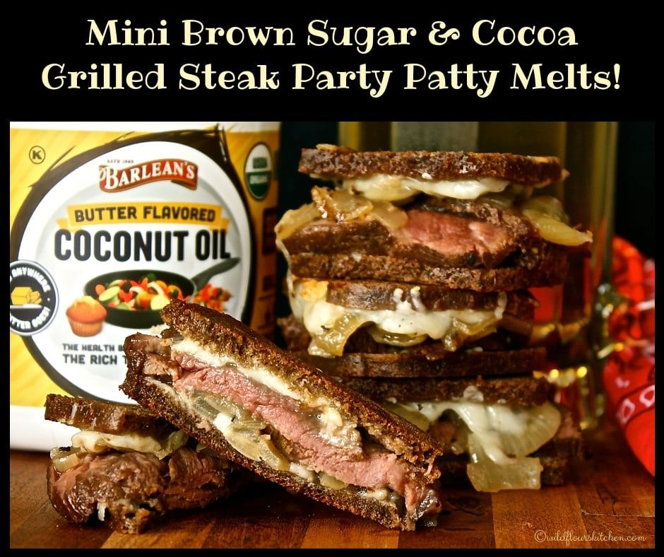 Mini Brown Sugar Amp Cocoa Grilled Steak Patty Melts