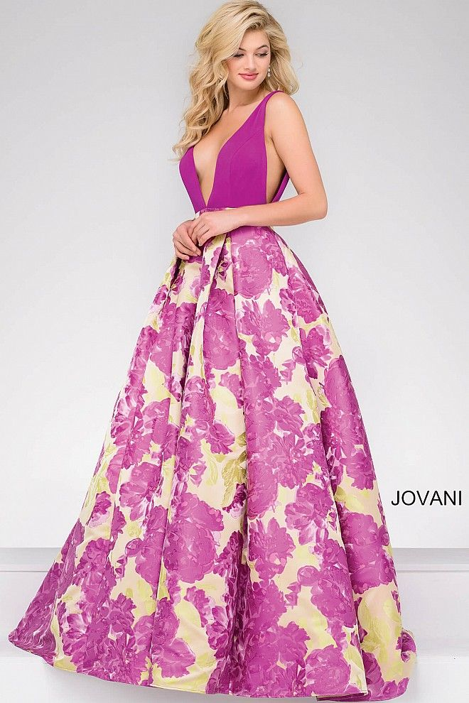 Floral Beauty #JOVANI #48923 | evening gowns | Pinterest | Vestido ...