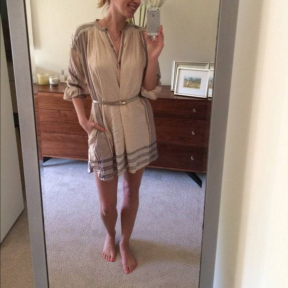 NWOT Free People Tunic/dress - M Bought for spring break and didn't end up needing. This color combo is one of my favorites. PRICE FIRM. No trades please, thx  Free People Dresses Long Sleeve
