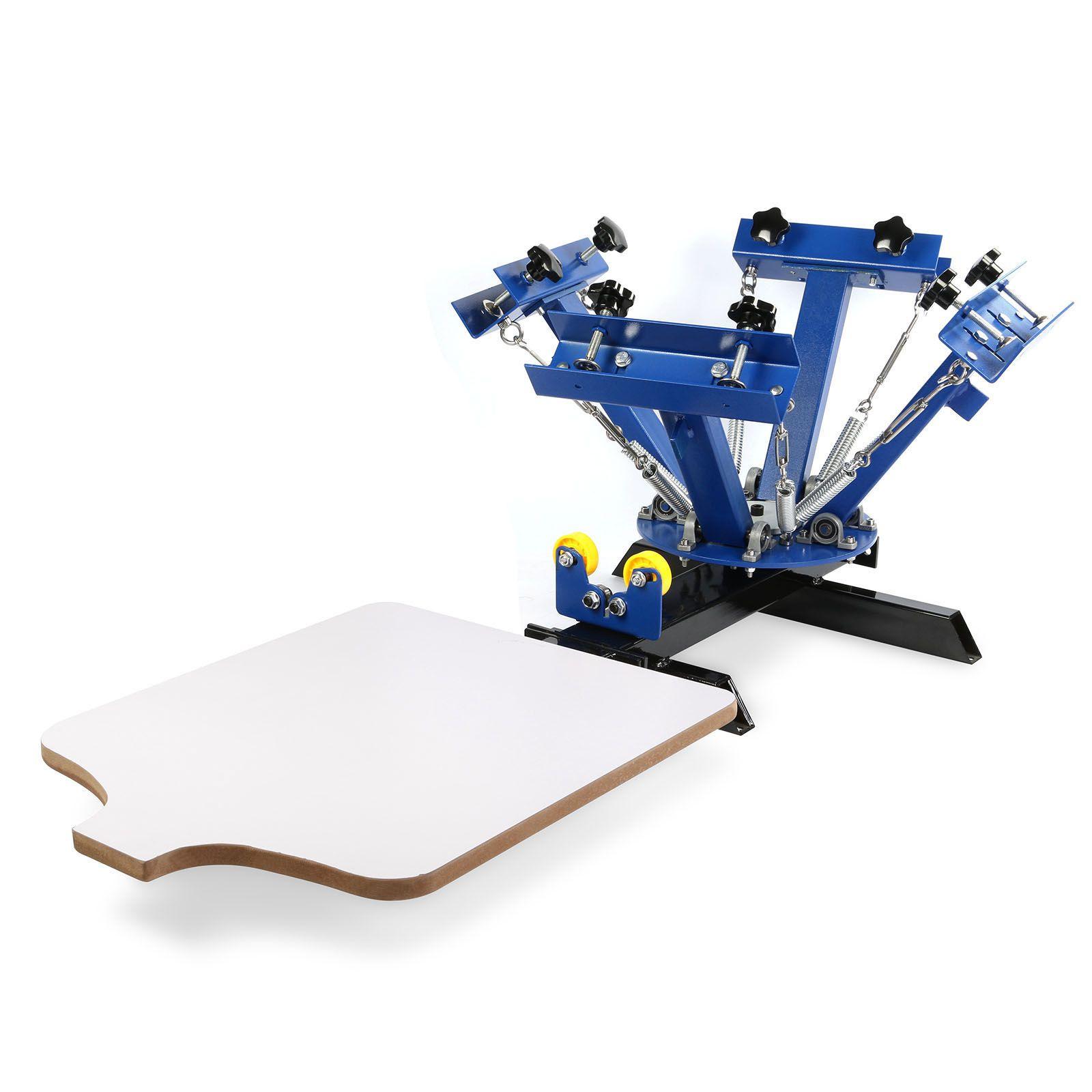 Color press printing - 4 Color 1 Station Silk Screen Printing Machine 4 1 Press Diy T Shirt