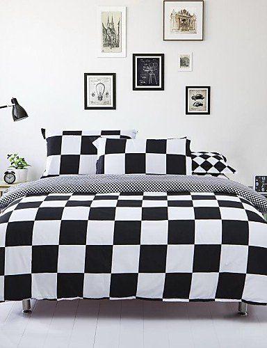 Robot Check White Bed Sheets Bedding Sets Duvet Cover Sets