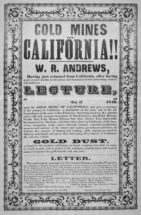 a history of the california gold rush in the united states Designed by a teacher/administrator for those interested in california history all state facts with photos synopsis of history from sixteenth through nineteenth.