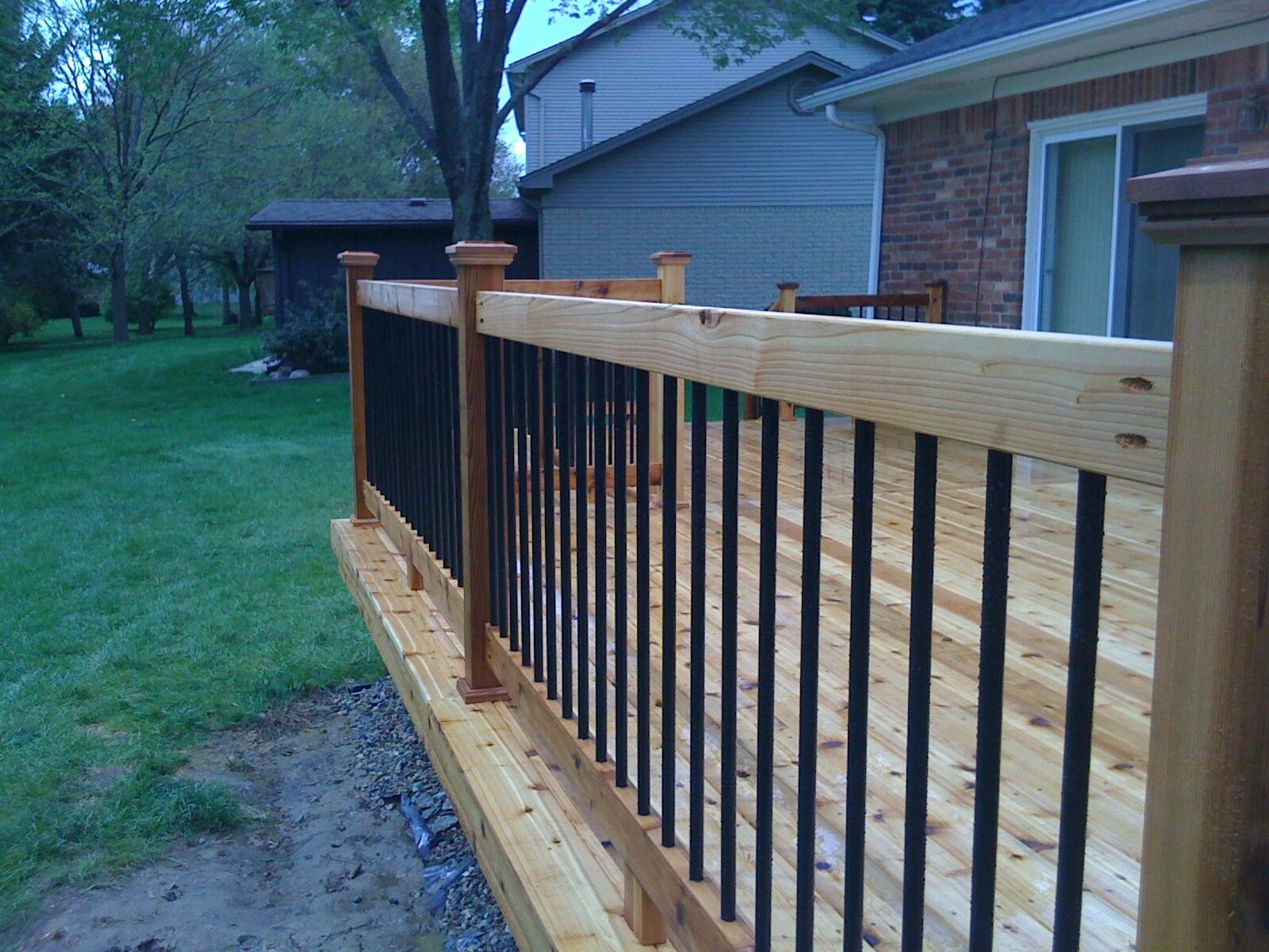 Rebar Railing On Deck Deck Railing Pinterest Rebar