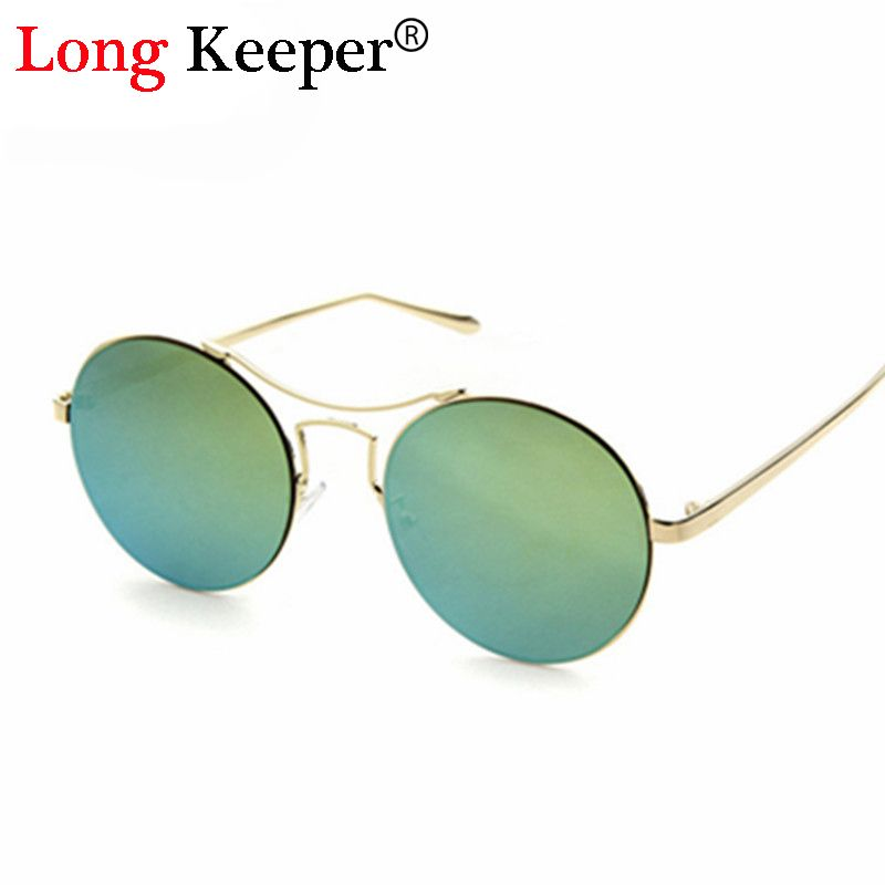 Long Keeper High Quality Round Sunglasses Metal Frame Glasses Brand ...