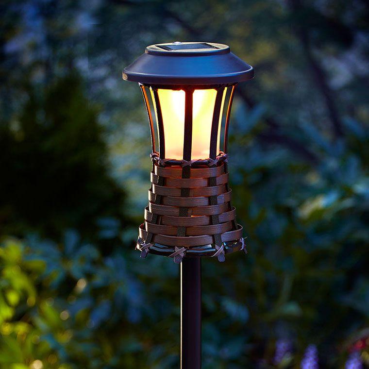 tiki lighting. Perfect Lighting Brown Woven Solar LED Tiki Light With Lighting