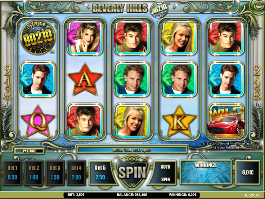 Beverly Hills 90210 Slot Machine